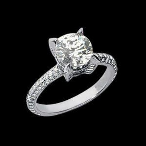 2.26 carat Round diamonds wedding anniversary ring